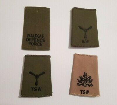 Current / Recent Issue RAF Rank Sliders - RAF, TSW & Aux Defence Force