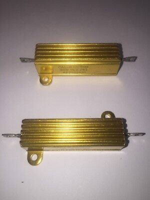 5 Pack 49.9  Ohm Resistors 1/% Tolerance CAL-R Inc 10 Watt CAL-RR18030