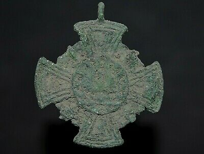 Ancient Viking Bronze Cross. Stunning & Rare Norse Amulet Pendant, c 950-1000 Ad