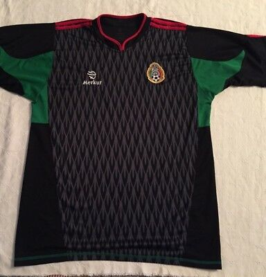 promo code 487e6 c2fc3 MENS MEXICO NATIONAL Soccer Team Jersey Black/Red/Green Murker SZ Large  Futbol