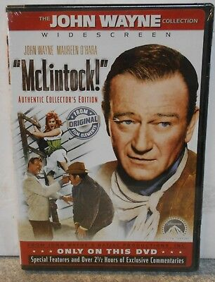 McLintock (DVD, 2005, Collectors Edition) RARE 1963 WESTERN COMEDY BRAND NEW