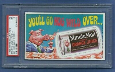 Wacky Packages Ads 1969 # 7 Minute Mud Psa 7 Nm