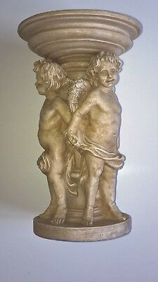Candle Holder with Cherubs Figurines