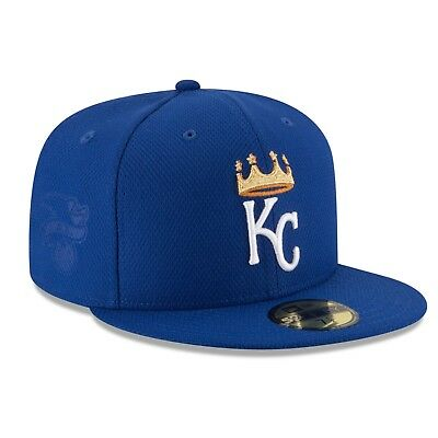 watch d0b59 68328 Size 7 New Era Kansas City Royals Mlb 5950 Diamond Blue Gold Fitted Pro Cap  Hat
