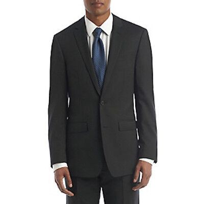 DKNY Men's Pin Dot Suit Separate Jacket Black Size 40 Long