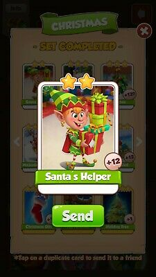 Coin Master Card - Santa's Helper - fast delivery