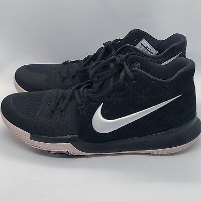 low priced 88cb6 7883a NIKE MENS KYRIE 3 Black Suede White Silt Red 852395-010 Size 12