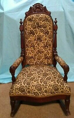 Swell Antique Childs Upholstered Rocking Chair With Springs Foam Uwap Interior Chair Design Uwaporg