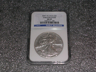 2007-W American Silver Eagle NGC MS69 Early Releases