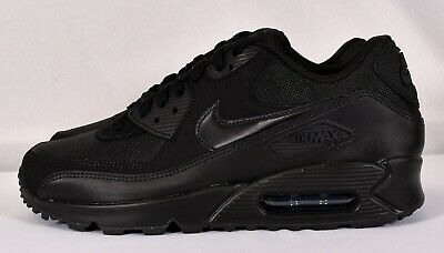 the latest 03e39 43c21 NIKE MEN'S AIR Max 90 Essential Running Shoes, Black/ Black (537384 090)