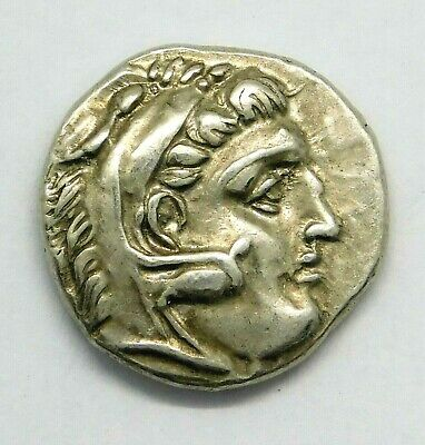 Alexander the Great. Superb Drachm. Ivy Leaf Below Throne. Greek Silver Coin.