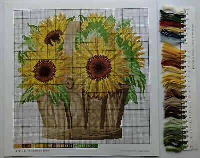 Elizabeth Bradley Needlepoint Chart & Yarn Card--The Botanical Garden- HOLLYHOCK