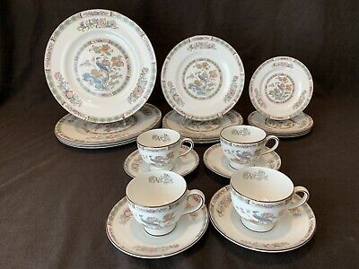 Wedgwood Kutani Crane 20 Piece 4 Place Settings Dinner Salad Bread Plate R4464