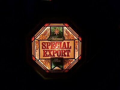 Heileman's Special Export beer sign lighted Stained glass vintage lighted sign