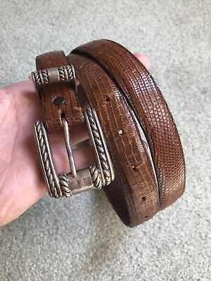 Vintage Signed VICENZA Sterling Silver Western Rope Style Belt Buckle 38