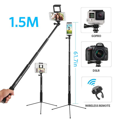 "Moreslan 59"" Bluetooth Selfie Stick Tripod with Remote for Phone Tablet, 3 in 1"