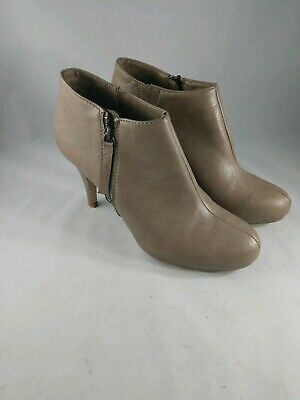 b22197ef0bd NUDE TAN MADDEN Girl ankle Booties Heals size 8.5 ginger