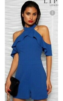9f2776378b BNWT - Gorgeous  Cobalt ruffle playsuit  from Lipsy. Size UK 8.