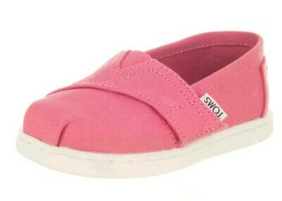 New Infant Toddler Toms Classics  Bubblegum Canvas Original So Cute With Strap