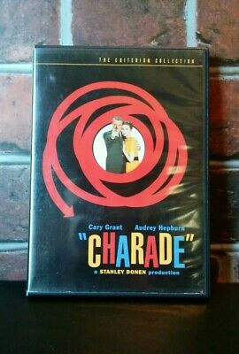 CHARADE (1963) Criterion Collection DVD. Cary Grant, Audrey Hepburn, Universal
