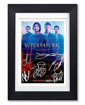 Supernatural Cast Signed Poster Print Tv Show Series Season Photo Autograph Gift