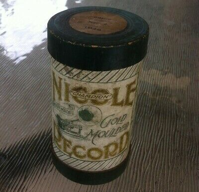 Nicole Cylinder Phonograph Record box only ( edison gramophone )