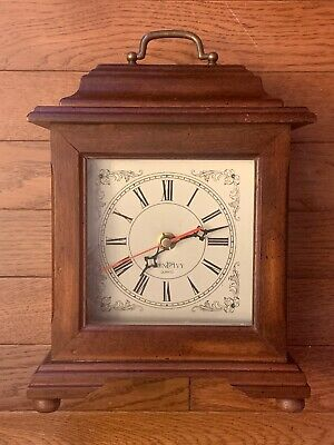 Vintage Wood Mantle Clock- The Bombay Company