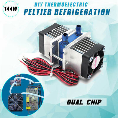 New Thermoelectric Peltier Refrigeration TEC1-12706 Cooler+water Cooling Kit Hot
