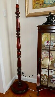 Vintage Floor / Standard Lamp Solid Timber Large Size Nice Condition No Shade