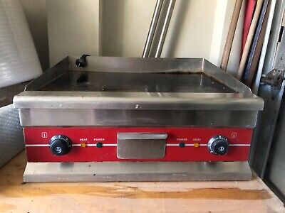 Commercial Electric Griddle BBQ Grill Plate Hot Stainless Steel Countertop