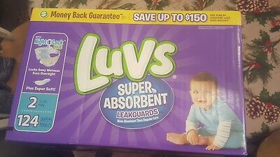 LUVS Ultra Leakguards Baby Diapers Size 2 CHEAP!!