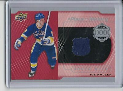 2018-19 Ud Series Two Joe Mullen Jersey A Piece Of History 1000 Point Club