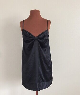 VICTORIAS SECRET Black Slip Chemise Gown Nightie Size S Lingerie Nightgown