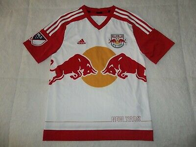 27ad24a6f37 Euc Sewn New York Red Bulls Adidas Mls Soccer Jersey Youth Boys L Large 14-