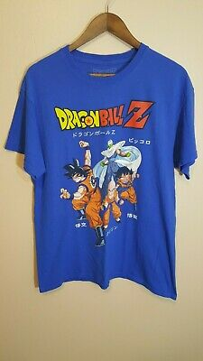 DragonballZ Goku Japanese Anime T-Shirt Ripple Junction Sz L Blue Dragon Ball Z