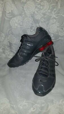 best website b63ef 674ac MENS NIKE SHOX NZ SL~ SZ 13 Gray Red Leather 378341-043 Gently Used