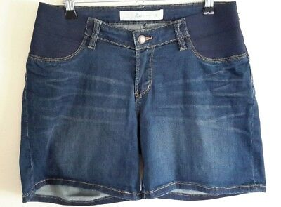 RIPE Blue 'Stretch' Denim 'Maternity' Shorts, Size S