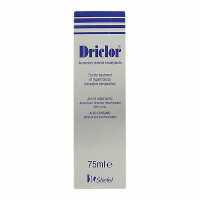 Driclor Antiperspirant Hyperhidrosis Excessive Sweating Roll On 75ml