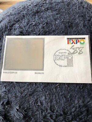 World Expo 88, Halo Gram Envelope And Stamp, Still In Plastic x 2