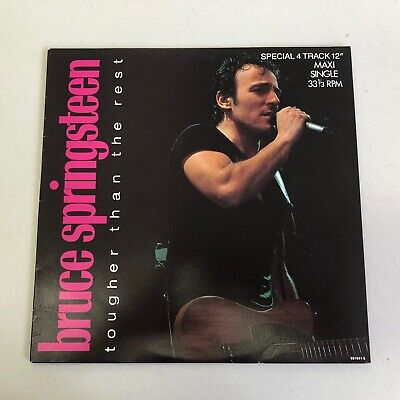 "Bruce Springsteen- Rare Aussie 12"" 45 PROMO  ""Tougher Than The Rest""  1987  NM"