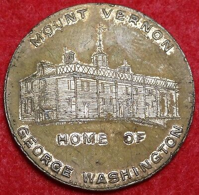 1932 Mount Vernon Home Of George Washington Bicentennial Medal Metal Arts Ny