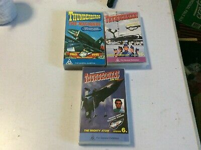 Vhs Movies X 3.Thunderbirds Are Go.gerry Anderson.cult Tv.the Machines