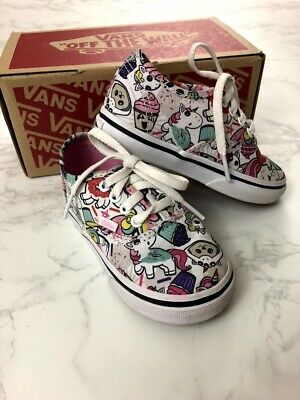 6e7f8963f9 Toddler Girls Vans Donut Unicorn Size 7 Authentic Off The Wall Shoes  Sneakers