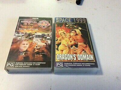 Vhs Movies X 2.dr Who..bbc Cult Sci-Fi.baker.space 1999