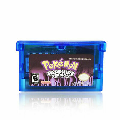 For Pokemon NDSL/GBC/GBM/GBA/SP Sapphire Fan Advance Gameboy Cartridge Game Card