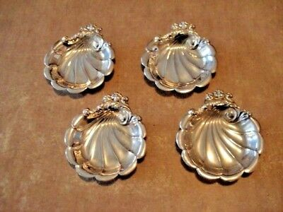 4 Pc Lot Ornate Lunt Sterling Silver dishes