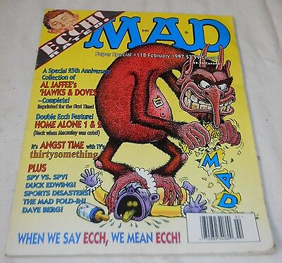 Mad Magazine Back Issue, Feb. 1997, Super Special #118, W/Fold-In, Good!