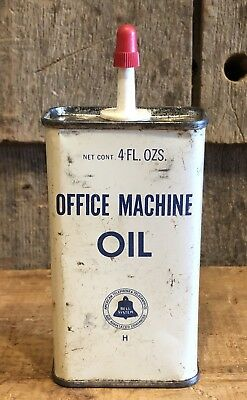 Vintage Bell System Office Machine Oil Tin Can American Telephone & Telegraph Co