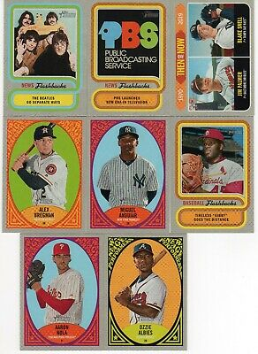 2019 Topps Heritage Lot Of 8 Inserts(See List)