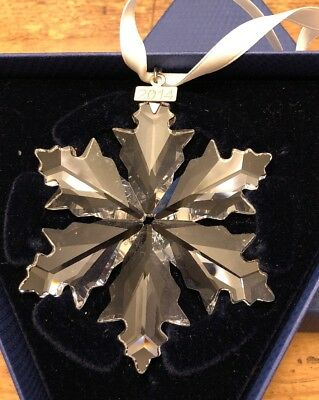 Swarovski Crystal Large Annual Snowflake Christmas Ornament 2014 Box